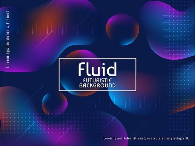 Vector de fondo de moda de flujo de líquido con estilo