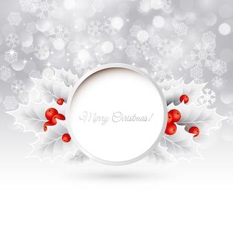 Vector fondo de navidad con acebo