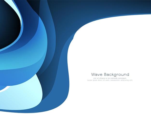 Vector de fondo de onda azul con estilo abstracto