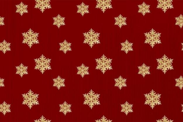 Vector de fondo de patrón de copo de nieve de año nuevo rojo, remezcla de fotografía de wilson bentley