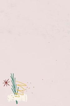 Vector de fondo de patrón de garabatos de navidad
