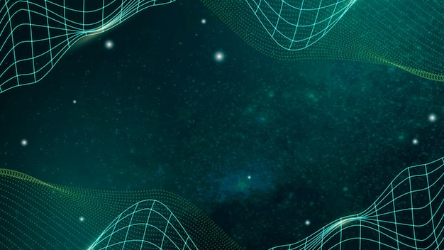 Vector de fondo de patrón de onda abstracta verde 3d