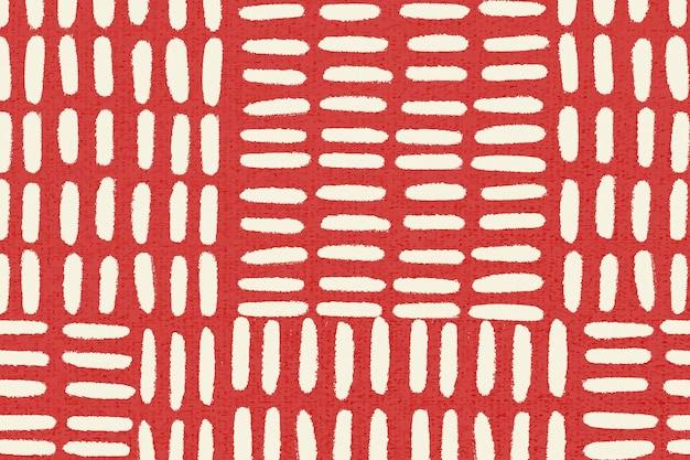 Vector de fondo de patrón rojo, diseño vintage