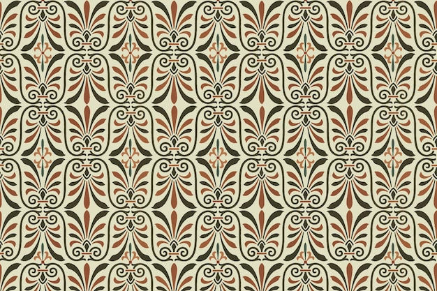 Vector de fondo de patrones sin fisuras clave griega