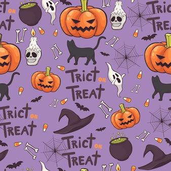 Vector de fondo de patrones sin fisuras de halloween