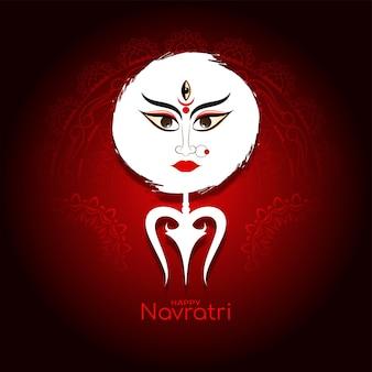 Vector de fondo rojo elegante tradicional feliz navratri festival