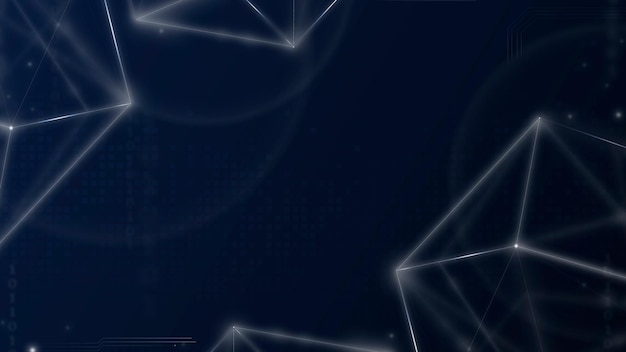 Vector de fondo de tecnología de red digital en tono azul