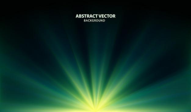 Vector de fondo verde abstracto con luces