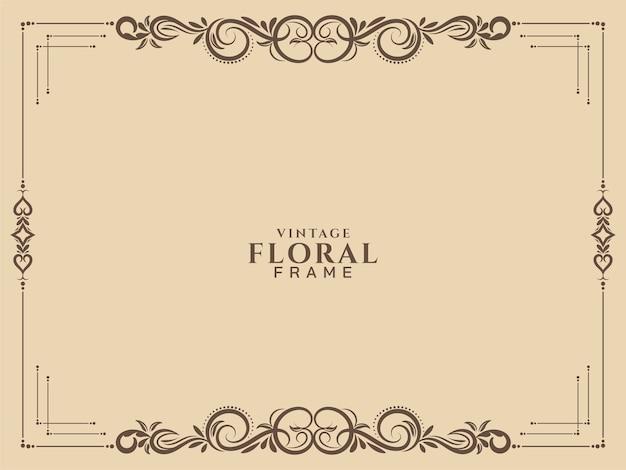Vector de fondo vintage marco floral abstracto