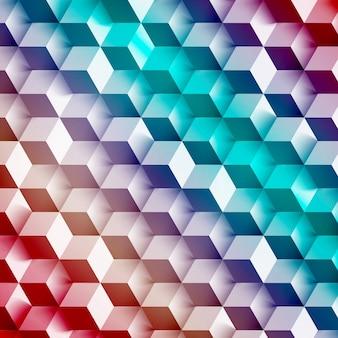 Vector forma geométrica abstracta de cubos grises.