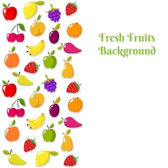 Vector de fruta banner o plantilla de volante