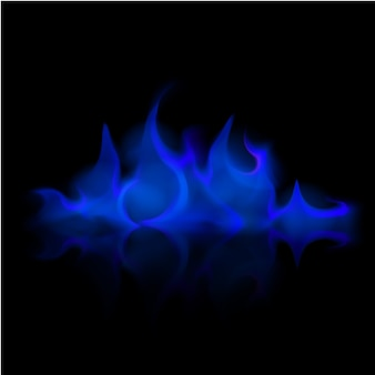 Vector fuego azul llama hoguera