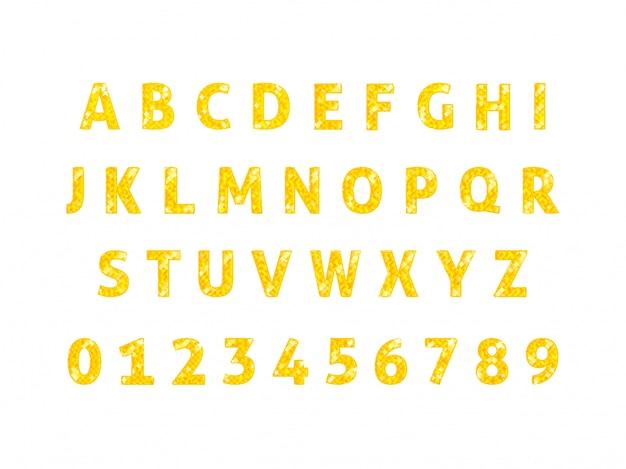 Vector de fuente de alfabeto de diamante aislado