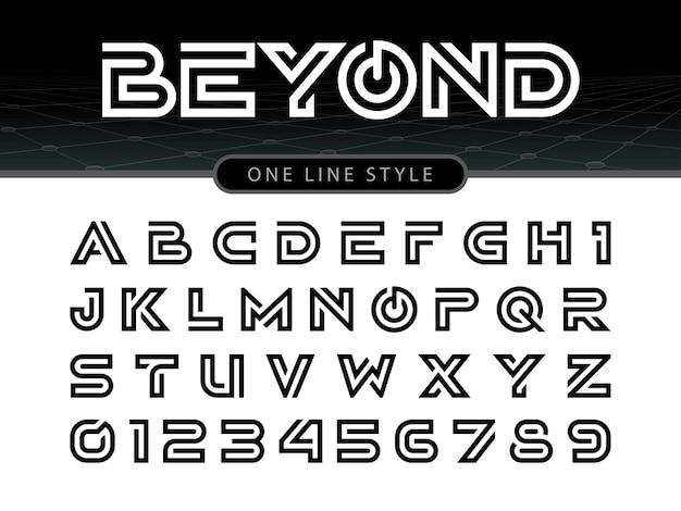 Vector de fuente estilizada redondeada y alfabeto