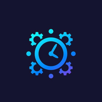 Vector de gestión del tiempo o productividad
