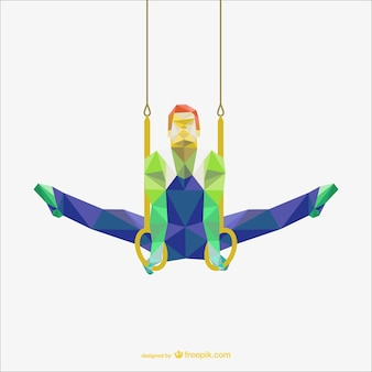 Vector gimnasta poligonal