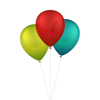 Vector globos de colores multicolores
