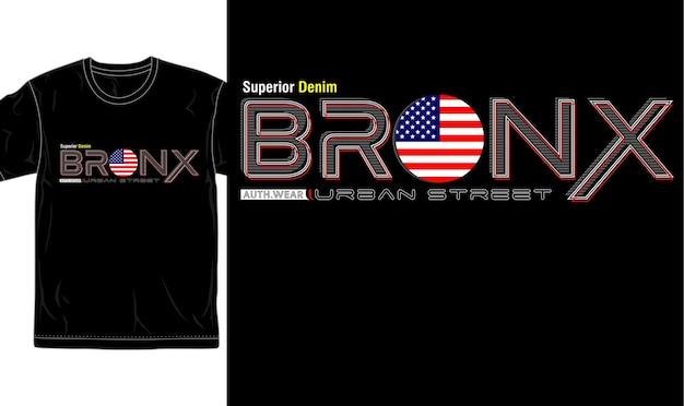 Vector gráfico de diseño de camiseta de ciudad urbana de bronx