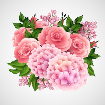 Vector con una hermosa flor