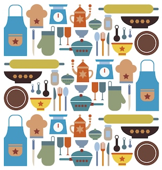 Vector de herramientas de panadería.