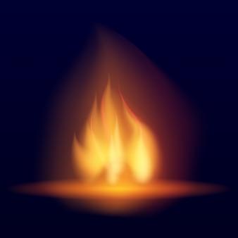 Vector hoguera ardiente.
