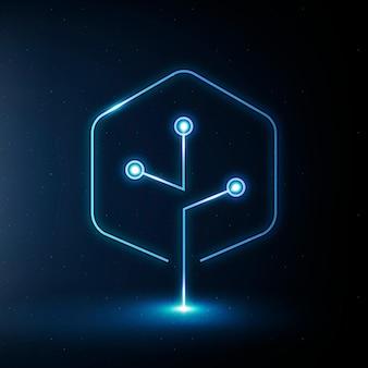 Vector de icono de agricultura inteligente iot en símbolo de agricultura