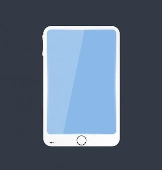 Vector icono de móvil y brillante. pantalla azul