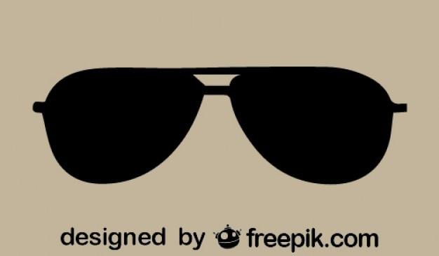 Vector icono de las gafas de sol retro