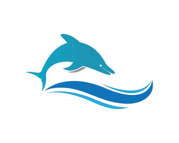 Vector de icono de logo de delfín Vector Premium