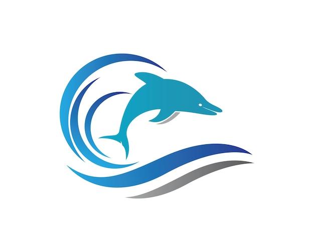 Vector de icono de logo de delfín