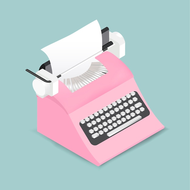 Vector de icono de máquina de escribir retro