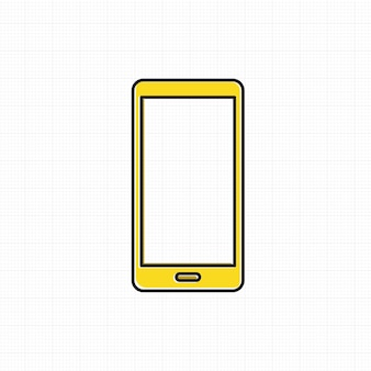 Vector de icono de teléfono móvil