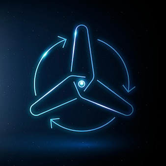 Vector de icono de turbina de viento símbolo de energía renovable