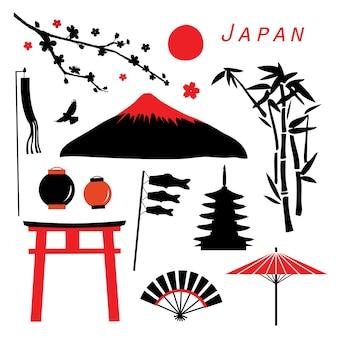 Vector de icono de viaje de japón