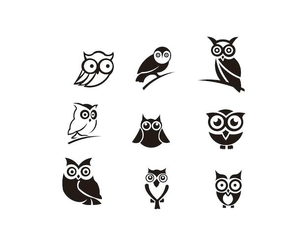 Vector de ilustración de animal de pájaro búho