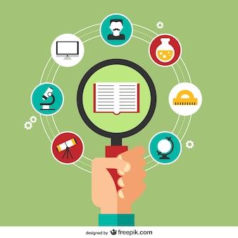 Vector ilustración de aprendizaje