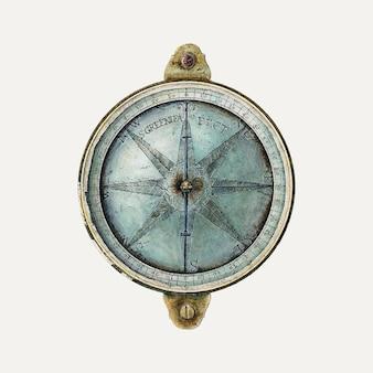 Vector de ilustración de la brújula del topógrafo, remezclado de la obra de arte de archie thompson