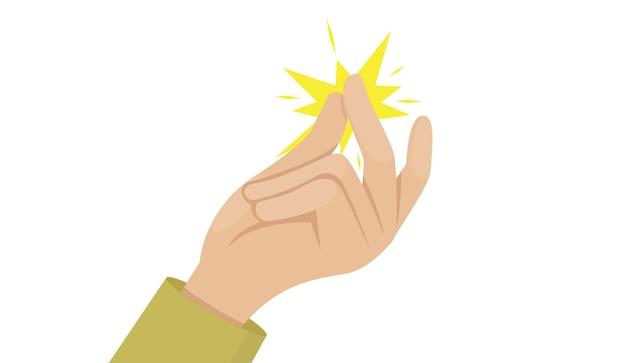 Vector de ilustración de chasquido de dedo eps10