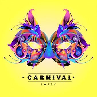 Vector ilustración colorida de máscara de carnaval