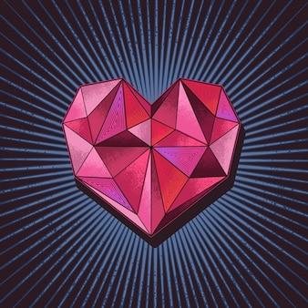 Vector de ilustración de concepto de diamante de amor