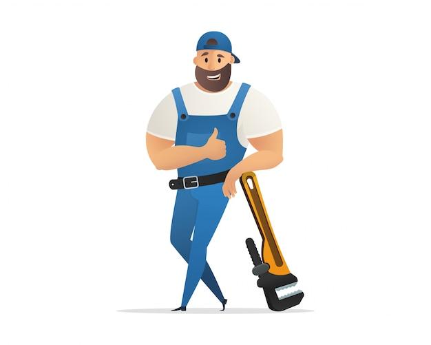 Vector ilustración concepto servicio de fontanero