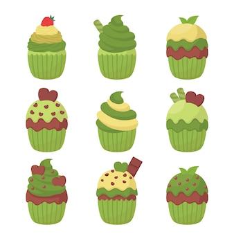 Vector de ilustración de cupcake