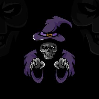 Vector de ilustración de diseño de bruja muerta