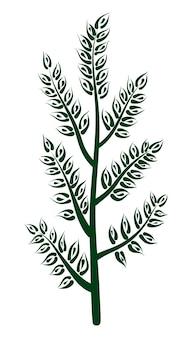 Vector ilustración ecológica de un árbol joven en crecimiento