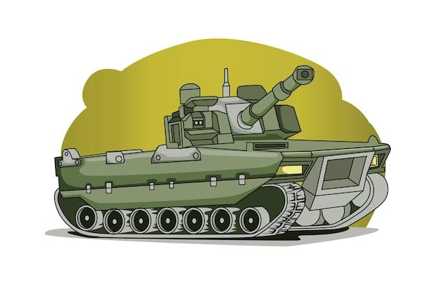 Vector de ilustración de ejército de tanque