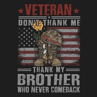 Vector de ilustración de ejército veterano americano botas