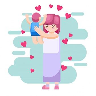 Vector ilustración feliz día de la madre padre