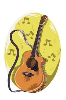 Vector de ilustración de festival de música de guitarra