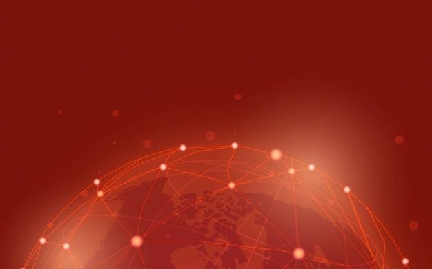 Vector de ilustración de fondo de conexión en todo el mundo