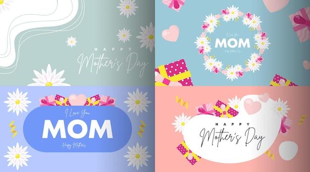 Vector de ilustración de fondo de feliz día de la madre.